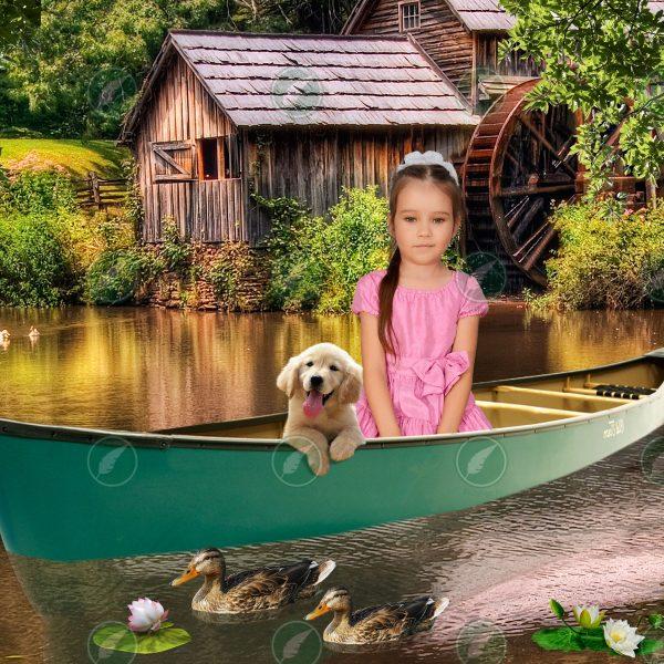 Девочка в лодке
