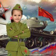 Девочка на Красной площади