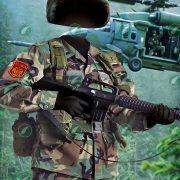 Мальчик в костюме военного коллаж