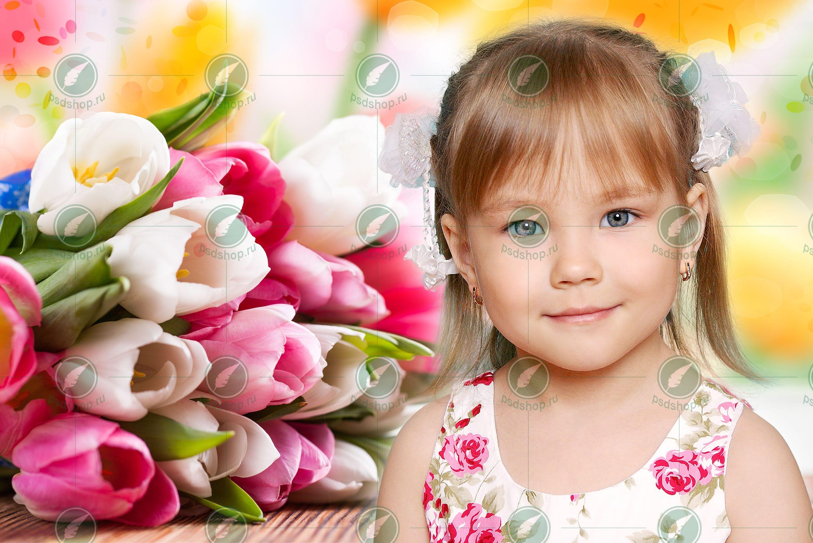 Портрет с тюльпанами