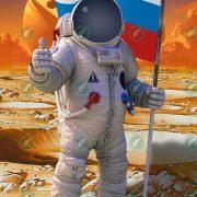 Юный астронавт коллаж