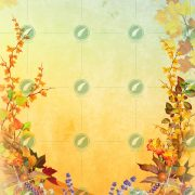 Осенняя виньетка коллаж