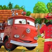 Юный пожарный коллаж