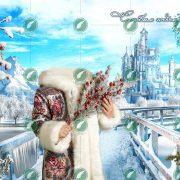 Снежный замок коллаж