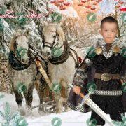 Рыцарь в зимнем лесу